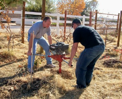 Digging Post Holes for Trellises, #1