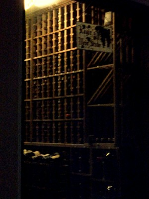Looking in to Kagy's Cellar