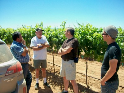 Sam Pillsbury meeting with members of AZ Wine Makers