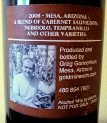 Back Label, 2008 Pseudo Tuscan