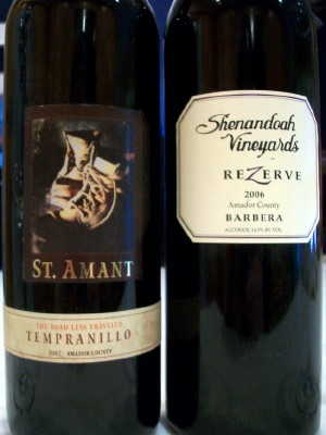 Amador County Tempranillo and Barbera